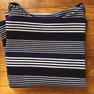 Madewell Blue & White Striped Shirt